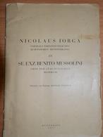 Romania Nicolae Iorg. Ministers.Benito Mussolini. MAP Ukraine Bessarabia Romania  Bucovina 1937 - Books, Magazines, Comics