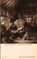 ART PEINTURE  KONIGL. GEMALDEGALLERIE DRESDEN  ADRIAEN VAN OSTADE  AU CABARET - Paintings