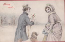 V.K. Vienne N° 5003 Jugendstil Viennoise Style 1908 Winter Hond Chien Dog Hund Carte Fantaisie Fantasiekaart CPA Old - Illustratoren & Fotografen