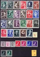 BELGIQUE,  ANNEE COMPLETE 1944 ** MNH, (1944) - Jahressätze