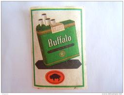 Matchbox Label Etiket BUFFALO Cigaret Sigaretten Cigarettes - Matchbox Labels
