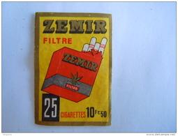 Matchbox Label Etiket ZEMIR Cigaret Sigaretten Cigarettes 25 Filtre 10 Fr 50 - Matchbox Labels