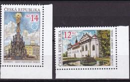 2002, Tschechische Republik, Ceska, 332/33, UNESCO-Welterbe  MNH ** - Tschechische Republik