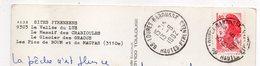 1982--cachet Rond Manuel  65-LOURES-BAROUSSE  Type Liberté Sur Cpm Vallée Du Lys - Marcophilie (Lettres)