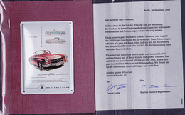 Deutschland Germany Allemagne - Blechschild 190 SL (Original Von 1955) Nachbildung 2004 - Advertising (Porcelain) Signs