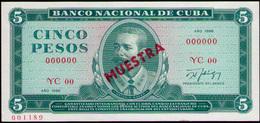 CUBA 5 PESOS 1986 SPECIMEN MUESTRA UNC - Cuba
