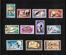 Nigeria 1965 Wildlife Pictorials, Complete Set To 5/- LMM (6772) - Nigeria (1961-...)
