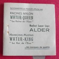 Savonnettes En Feuilles. Carnet Moulinet Alder Hameçons Mustad Racines Nylon. PARC 1950 - Advertising