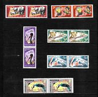 Nigeria 1969 Wildlife Pictorials, NSP&M Reprints In MNH Pairs (6775) - Nigeria (1961-...)