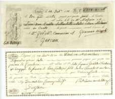 Zwei Wechsel 1820/1821 LUGANO Locarno Schweiz Gersau Tessin Suisse - Bills Of Exchange