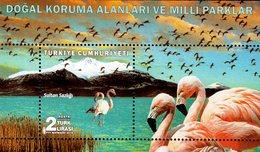 Turkey - 2018 - National Conservation Areas And Parks - Sultan Sazligi - Mint Souvenir Sheet - 1921-... Republiek