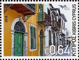 Cyprus - 2018 - Euromed - Houses Of Mediterranean - Mint Stamp - Zypern (Republik)