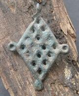 "Ancient Viking Bronze Amulet Pendant ""chainmail"" 9-12 Century - Archaeology"