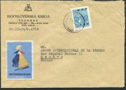 Beograd Jugoslovenska Knjiga FNR Cover - Argus Press Agency, Geneva Switzerland. International Fair Vignette - 1945-1992 Socialist Federal Republic Of Yugoslavia