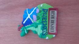 Aimant De Frigo Dragon Souvenir De Scotland Edinburgh - Autres