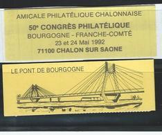 CarnetPrivé CHALON S/s 50e Congrès Bourgogne-Franch-Comté- 10 Timbres 0.10 Ct - Postzegelboekjes
