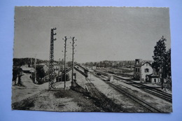 CPA 15 CANTAL LE ROUGET. La Gare. - France