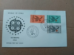 FDC EUROPA CEPT -  1965 - CIPRO - CYPRUS - Europa-CEPT