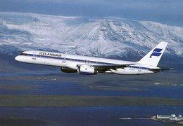 Iceland/Islande/Ijsland/Island Postcard Icelandair Boeing 757-200 In Air Unused - Iceland