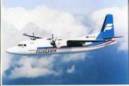 Iceland/Islande/Ijsland/Island Postcard Icelandair Fokker 50 In Air Unused - Iceland