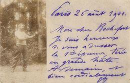 BELLE CARTE PHOTO 1901 - BOXE - BOXEUR - Boxe