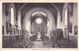 """LIMERLE  Acp Edit Labarbe  """" Intérieur De L'Eglise """" Circulée  """"  Voir Scans - Gouvy"""