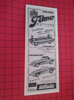 Page De Revue Des Années 60/70 : PUBLICITE SOLIDO TEKNO : JAGUAR  Dimensions : Voir Quadrillage 1x1cm - Catalogues & Prospectus