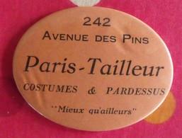 Miroir Publicitaire, De Sac, De Poche Ou De Courtoisie. Paris-tailleur Costumes Et Pardessus. 1950 - Other