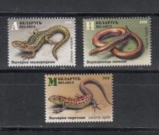 Belarus Weissrussland 2018 MNH** Mi. Nr. 1264 - 66  Lizards M - Reptilien & Amphibien