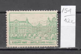 42K154 / KARLOVY VARY - HOTEL CEDOK MOSKVA Town Czech Republic , CINDERELLA LABEL VIGNETTE , Czechoslovakia - Cinderellas