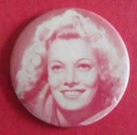 Miroir Publicitaire, De Sac, De Poche Ou De Courtoisie. Portrait Star ? Actrice ?. 1950 - Other