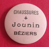 Miroir Publicitaire, De Sac, De Poche Ou De Courtoisie. Chaussures Jounin, Béziers. 1950 - Other