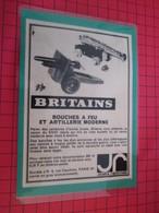 Page De Revue Des Années 60/70 : PUBLICITE  FIGURINES BRITAINS : ARTILLERIE  Dimensions : Voir Quadrillage 1x1cm - Figurines