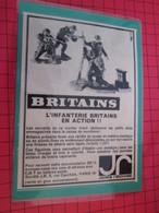 Page De Revue Des Années 60/70 : PUBLICITE  FIGURINES BRITAINS : INFANTERIE ROSBIFS  Dimensions : Voir Quadrillage 1x1cm - Figurines