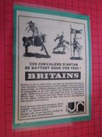 Page De Revue Des Années 60/70 : PUBLICITE  FIGURINES BRITAINS CHEVALIERS MOYEN AGE  Dimensions : Voir Quadrillage 1x1cm - Figurines