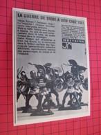 Page De Revue Des Années 60/70 : PUBLICITE FIGURINES BRITAINS GUERRE DE TROIE (ou 4) Dimensions : Voir Quadrillage 1x1cm - Figurines
