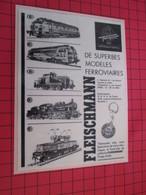 Page De Revue Des Années 60/70 : PUBLICITE TRAIN ELECTRIQUE FLEISCHMANN Dimensions : Voir Quadrillage 1x1cm - Trains électriques
