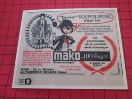 Page De Revue Des Années 60/70 : PUBLICITE MAKO MOULAGE NAPOLEON Dimensions : Voir Quadrillage 1x1cm - Figurines