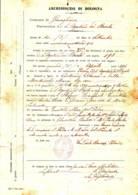 Granaglione  1914, Certificato Di Battesimo In Carta Libera - Manoscritti