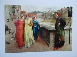 THE MEETING OF DANTE WITH BEATRICE - Firenze (Florence)