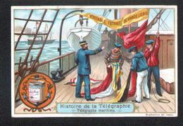 CHROMO LIEBIG , S 537, Histoire Du Telegraphe, Telegraphe Maritime - Liebig