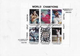 Tuva 1996; Chess Graf Tyson Faldo Lara Agassi  FDC - Touva