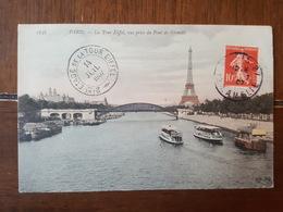 Cachet 2ème Etage De La Tour Eiffel 1907 - TAD Paris Et Thouars - TP Semeuse - Postmark Collection (Covers)
