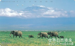 Telecarte JAPON - ANIMAUX - ELEPHANT - Jungle