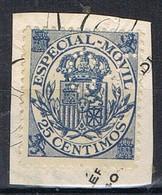Sello Fiscal Postal , Especial Movil 35 Cts, Perforado Comercial C.L. Perfin º - Fiscali-postali