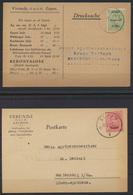 Eupen Und Malmedy 2 Postkarten EF 1 + Eupen 4 Nach Marienberg Sachsen - Belgique