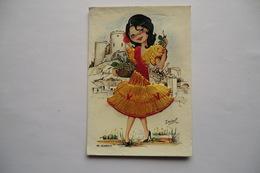 CP BRODEE. Carte Postale Brodée. ALMERIA ISABEL. - Brodées