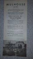 DEPLIANT TOURISTIQUE  1948 MULHOUSE - Reiseprospekte