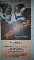 DEPLIANT TOURISTIQUE 1949  MULHOUSE - Reiseprospekte