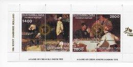 Tuva 1996; Chess Scouting Paintings Smith / Jambor; Gold O/p Rotary + Jamboree Holland ; - Touva